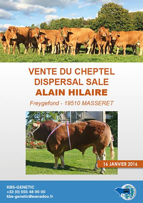 Alain Hilaire Dispersal Sale, Saturday 16th January 2016