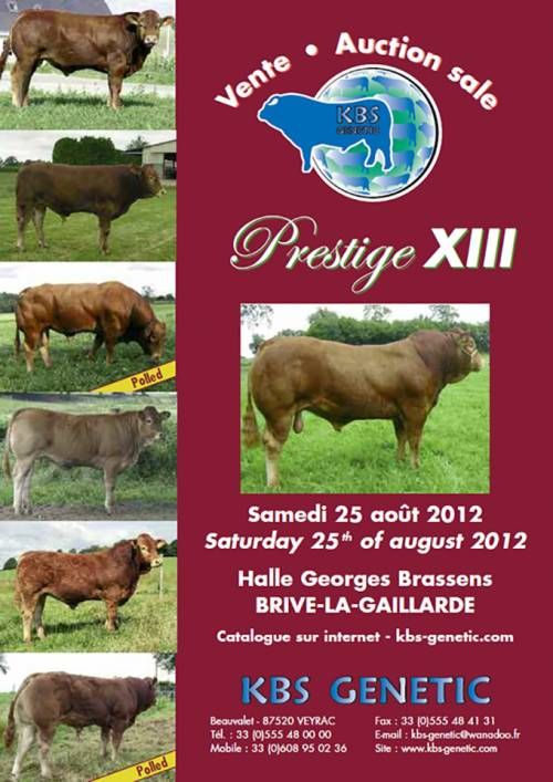 Prestige XIII Sale August 25th at Brive, France