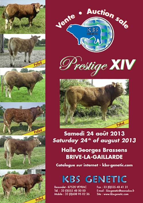 PRESTIGE XIV Sale at Brive, France 24th of August