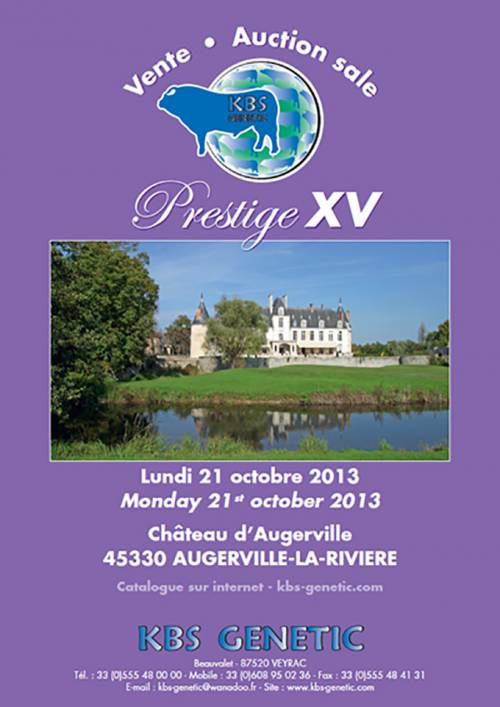 PRESTIGE XV Sale at Chateau d'Augerville October 21st