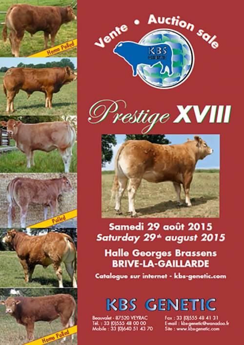 PRESTIGE XVIII Sale, Saturday 29th August 2015